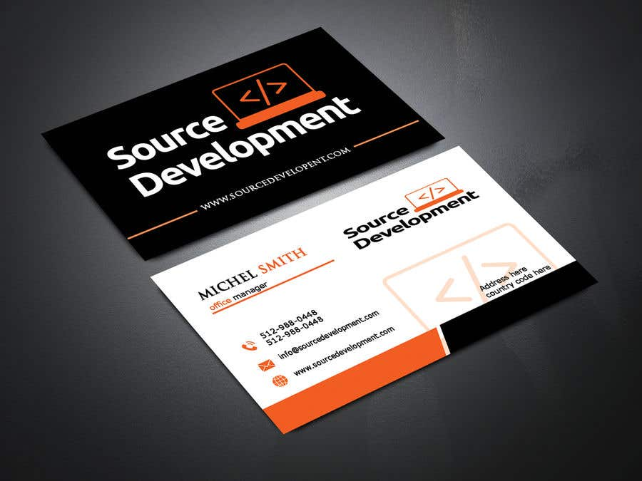 Kilpailutyö #355 kilpailussa Re-Design a Business Card for a Website & App Development Company