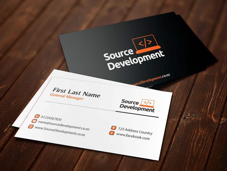 Inscrição nº 229 do Concurso para Re-Design a Business Card for a Website & App Development Company