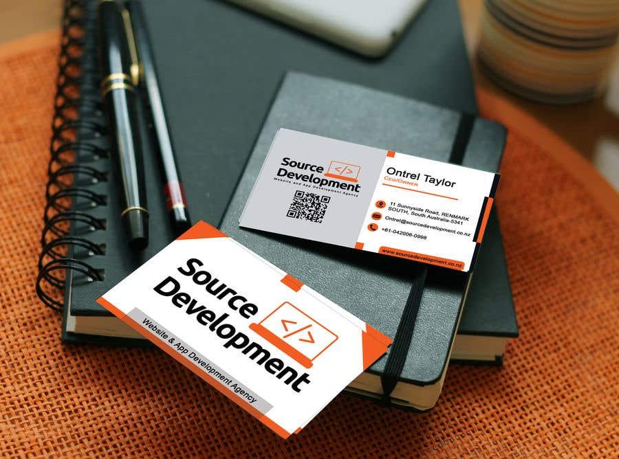 Inscrição nº 283 do Concurso para Re-Design a Business Card for a Website & App Development Company