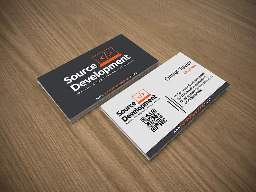 Inscrição nº 285 do Concurso para Re-Design a Business Card for a Website & App Development Company
