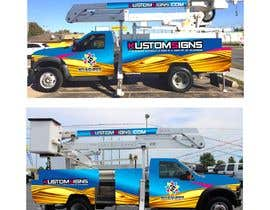 nº 15 pour Bucket Truck Wrap, Kustom Signs par monstersox