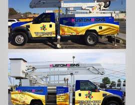 Nro 18 kilpailuun Bucket Truck Wrap, Kustom Signs käyttäjältä Leografic
