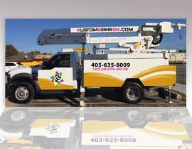 Nro 2 kilpailuun Bucket Truck Wrap, Kustom Signs käyttäjältä rondonwilliana