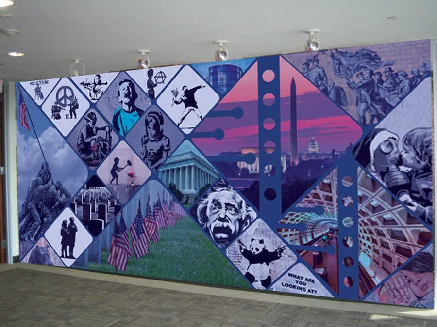 Kilpailutyö #38 kilpailussa Medical office Wall collage mural