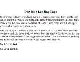 #1 for Landing page text (Collecting emails for dogs blog newsletter) by DawnRamsey