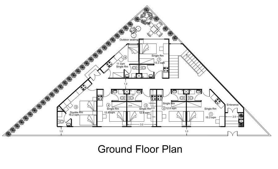 Konkurrenceindlæg #20 for Floor Plan needed for a student residence