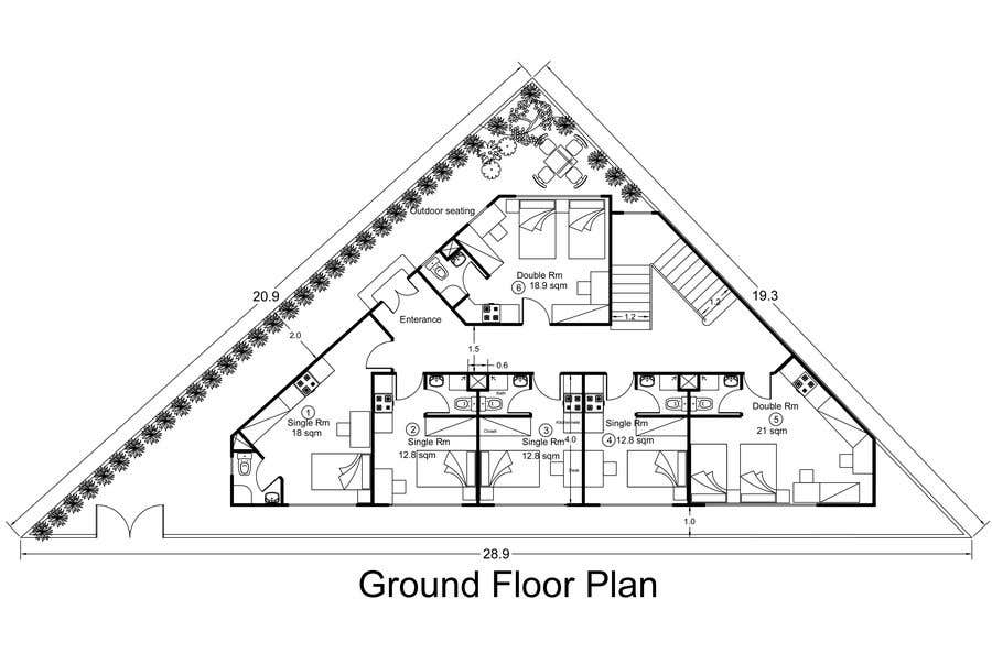 Proposition n°41 du concours Floor Plan needed for a student residence
