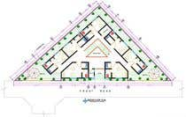 Proposition n° 35 du concours Building Architecture pour Floor Plan needed for a student residence