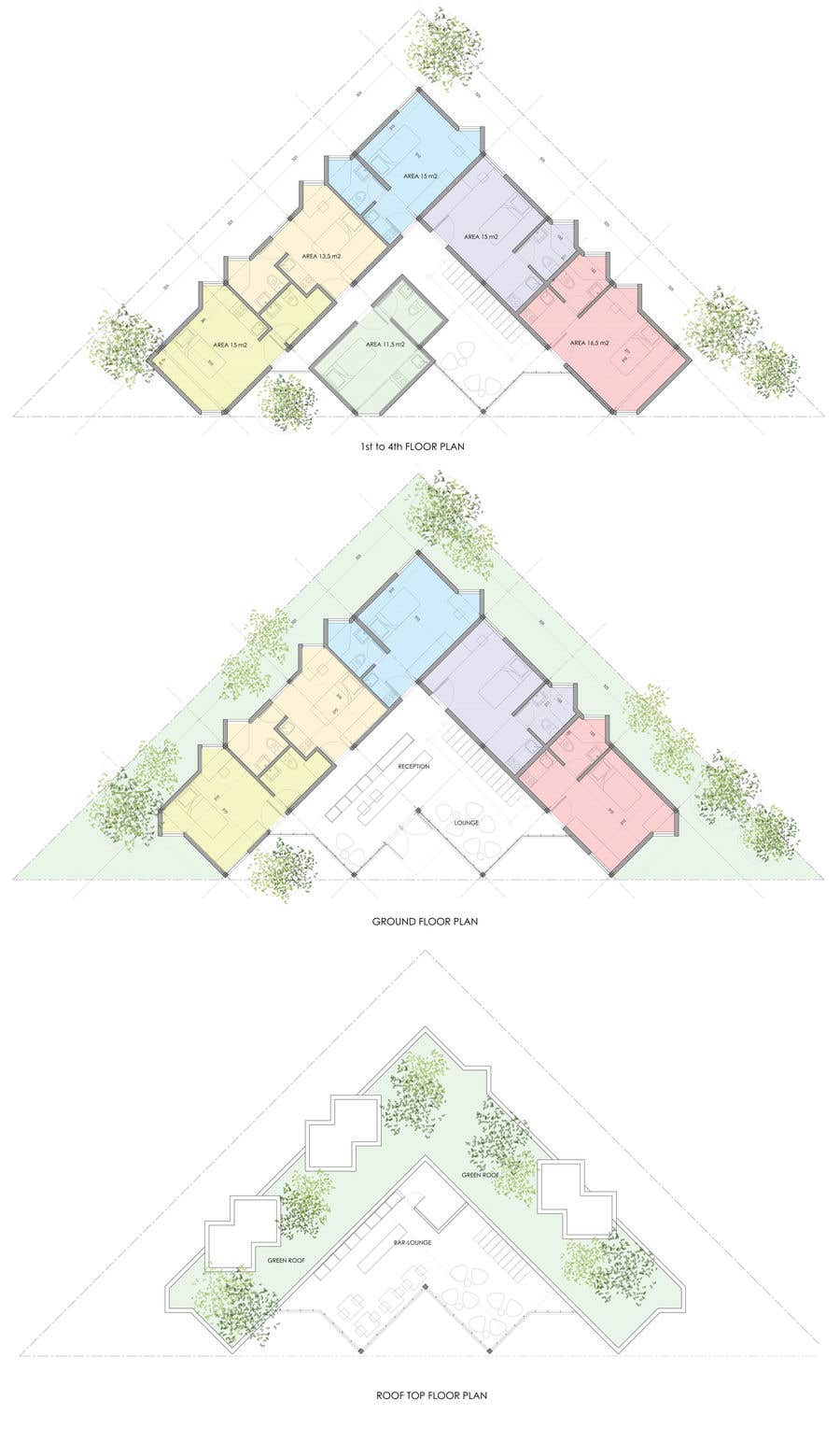 Proposition n°46 du concours Floor Plan needed for a student residence
