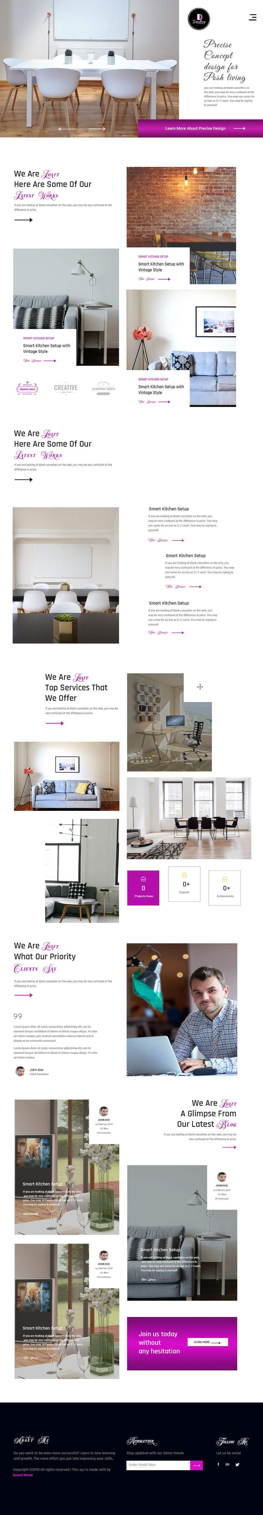 Penyertaan Peraduan #11 untuk Build Me A Website Template For An Interior Designer