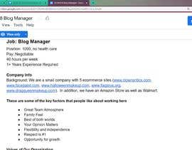 #8 for Apply for my Blog Manager Job and the Winner gets $100 and a job! by kanishkkk