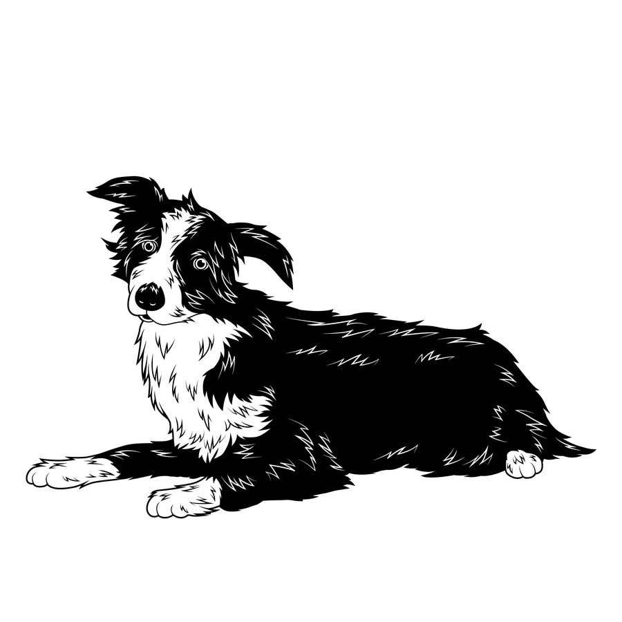 Penyertaan Peraduan #14 untuk Create 11 simple b&w illustrations of dogs and mice for a book