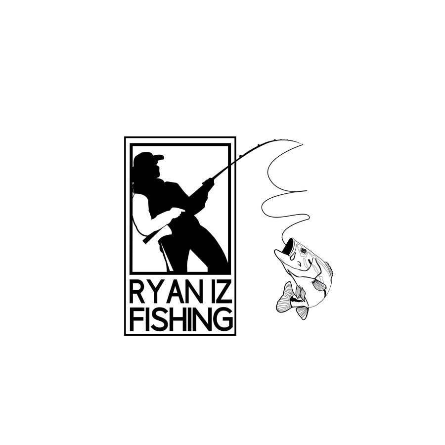 """Kilpailutyö #440 kilpailussa Create a Fishing Logo """"RYAN IZ FISHING"""""""