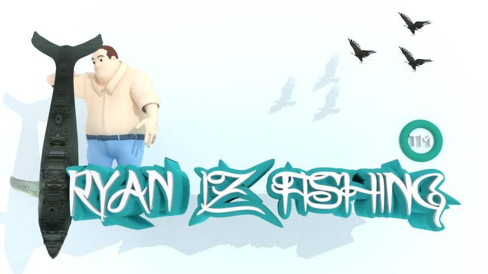 """Kilpailutyö #373 kilpailussa Create a Fishing Logo """"RYAN IZ FISHING"""""""