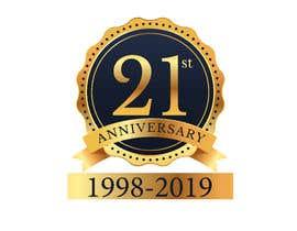 #7 untuk 21st Anniversary Logo oleh NancyWahid00