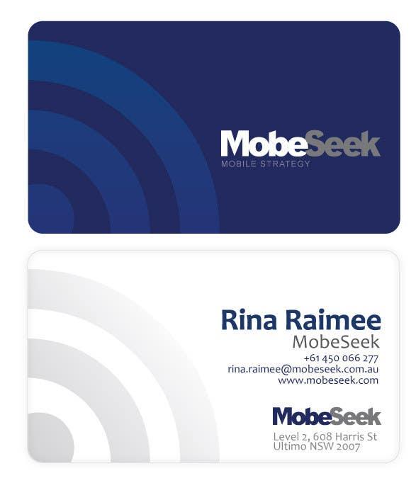 Конкурсная заявка №81 для Business Card Design for MobeSeek