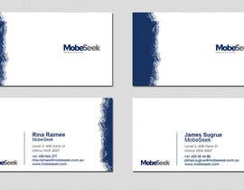 #93 para Business Card Design for MobeSeek de omzeppelin