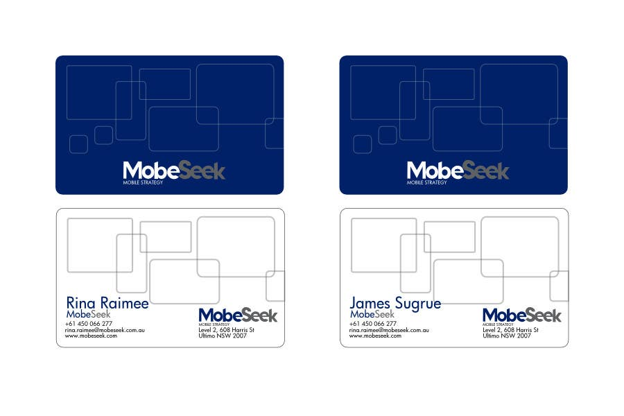 Contest Entry #88 for Business Card Design for MobeSeek