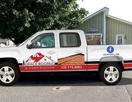 #67 para Partial truck wrap Grace Roofing & Construction por salehakram342