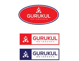 "#17 for Need a logo for a NOTEBOOK brand with name ""GURUKUL"" af Nikapal"