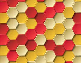 #76 for Backdrop: DARPA Black/Stylized Hexagon Pattern by airinbegumpayel