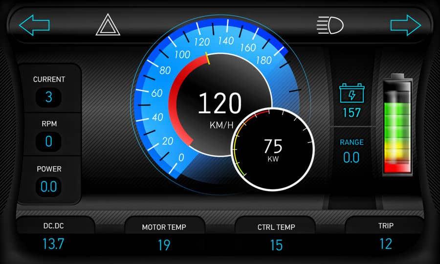 Bài tham dự cuộc thi #12 cho Graphic for motorcycle dashboard