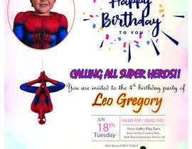 nº 79 pour Create a superhero theme birthday invite par mdshahab433
