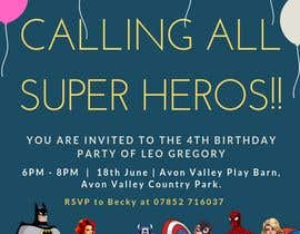 nº 66 pour Create a superhero theme birthday invite par NadirahHamid
