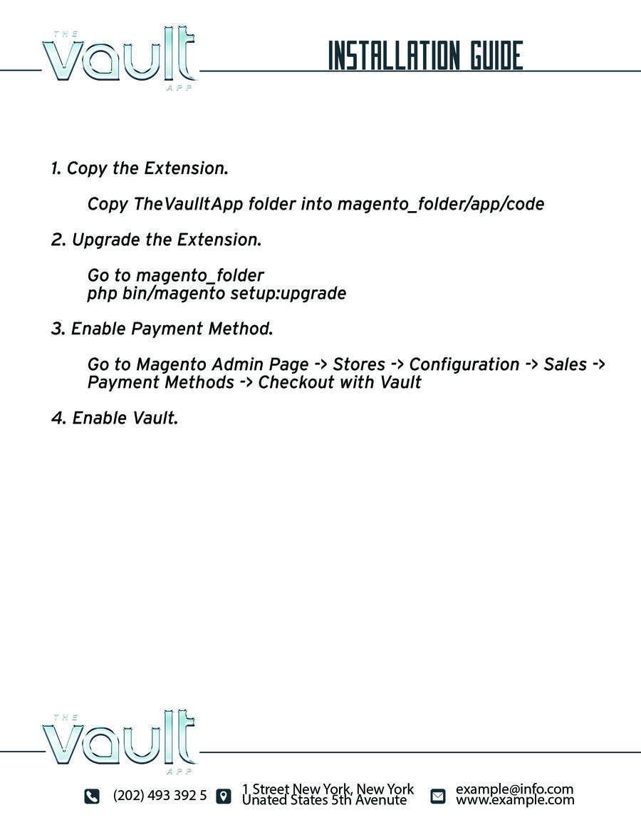 Kilpailutyö #                                        3                                      kilpailussa                                         Make an Installation PDF - Need Fast