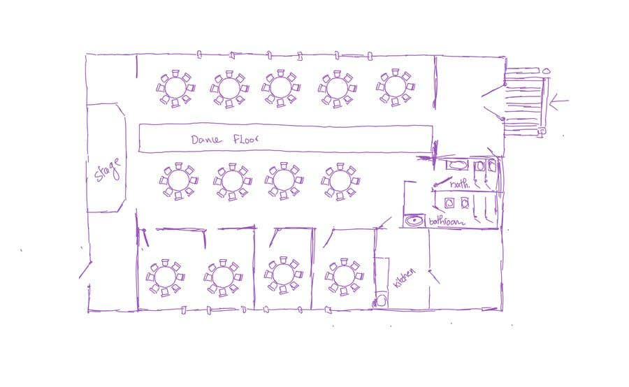 Proposition n°59 du concours Hand drawn seating plan (multiple winners!)