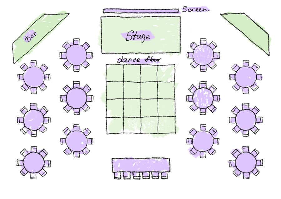 Proposition n°30 du concours Hand drawn seating plan (multiple winners!)