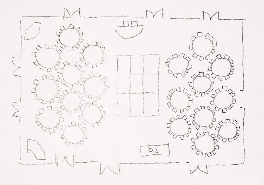 Proposition n°3 du concours Hand drawn seating plan (multiple winners!)