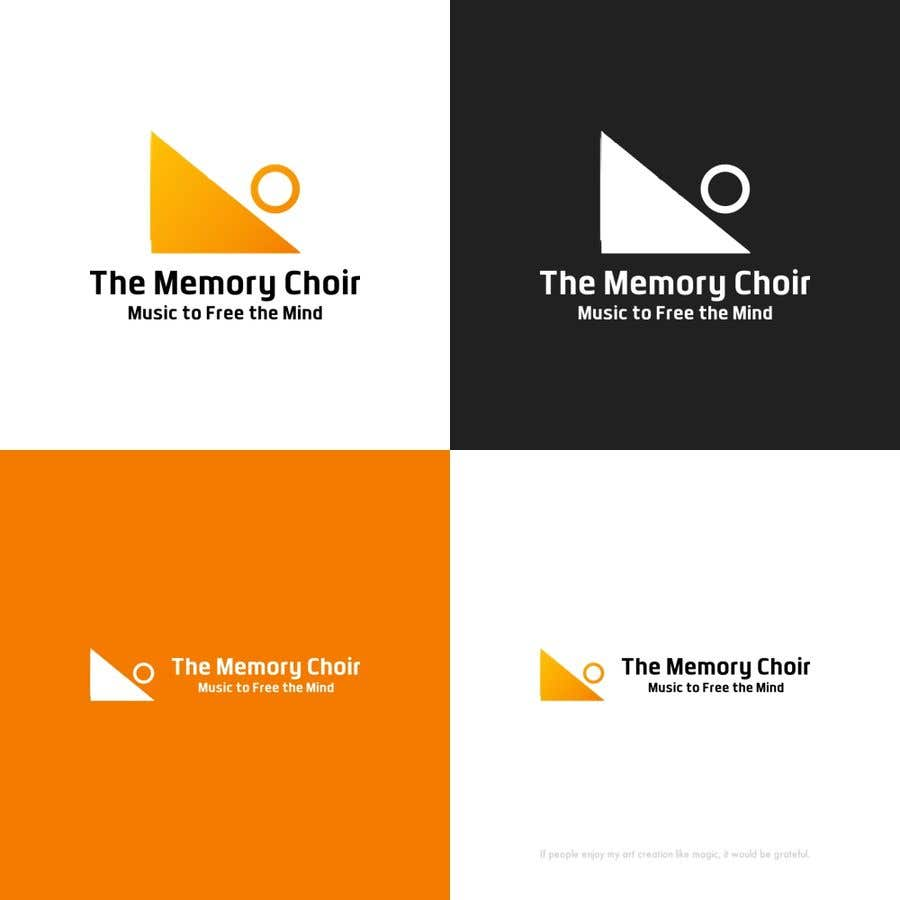 Proposition n°25 du concours I need a logo for a choir called The Memory Choir with a strap line 'Music to Free the Mind'