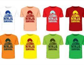 #64 для Ninja Survival t-shirt design от fahidyounis