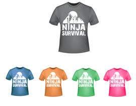 #58 для Ninja Survival t-shirt design от aliabdelhasi