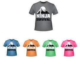 #59 для Ninja Survival t-shirt design от aliabdelhasi