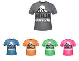 #60 для Ninja Survival t-shirt design от aliabdelhasi