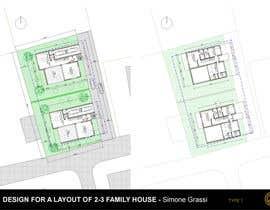 nº 12 pour Design a layout for a semidetached house and a tree-family-house par SimoneGrassi74