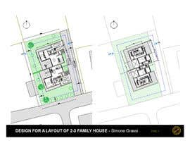 nº 19 pour Design a layout for a semidetached house and a tree-family-house par SimoneGrassi74
