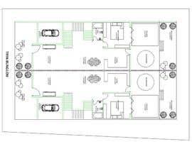 nº 5 pour Design a layout for a semidetached house and a tree-family-house par samirp284