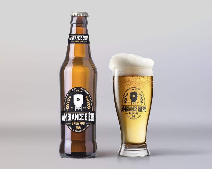 """Penyertaan Peraduan #46 untuk Logo for a brewpub called """"Ambiance bière"""""""