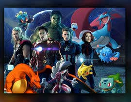 #23 for Create a Pokemon x Avengers Mashup Movie Poster af zhoocka