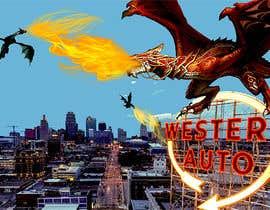 Nro 3 kilpailuun Original Art using Kansas City Iconic Scenes and Fantastical Things. käyttäjältä htmlsafayet