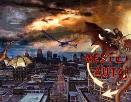 Nro 16 kilpailuun Original Art using Kansas City Iconic Scenes and Fantastical Things. käyttäjältä Cordaseth