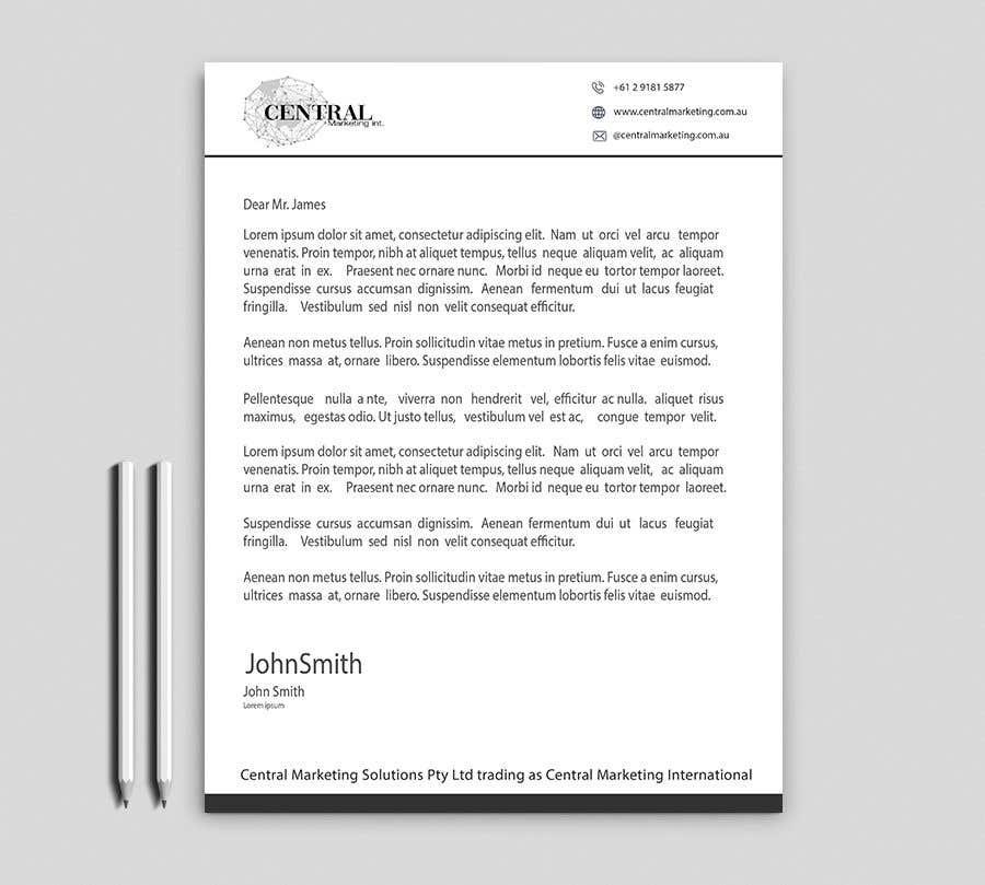 Penyertaan Peraduan #33 untuk Create a Letterhead