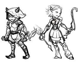 paezmiguel569 tarafından I need you to sketch 5 game characters, one warrior, one assassin, one mage, one ranged (gun or bow), one tank/ support. The art style is similar to the two files i attached, you can choose one style, and draw accordingly, please dont mix the styles için no 3