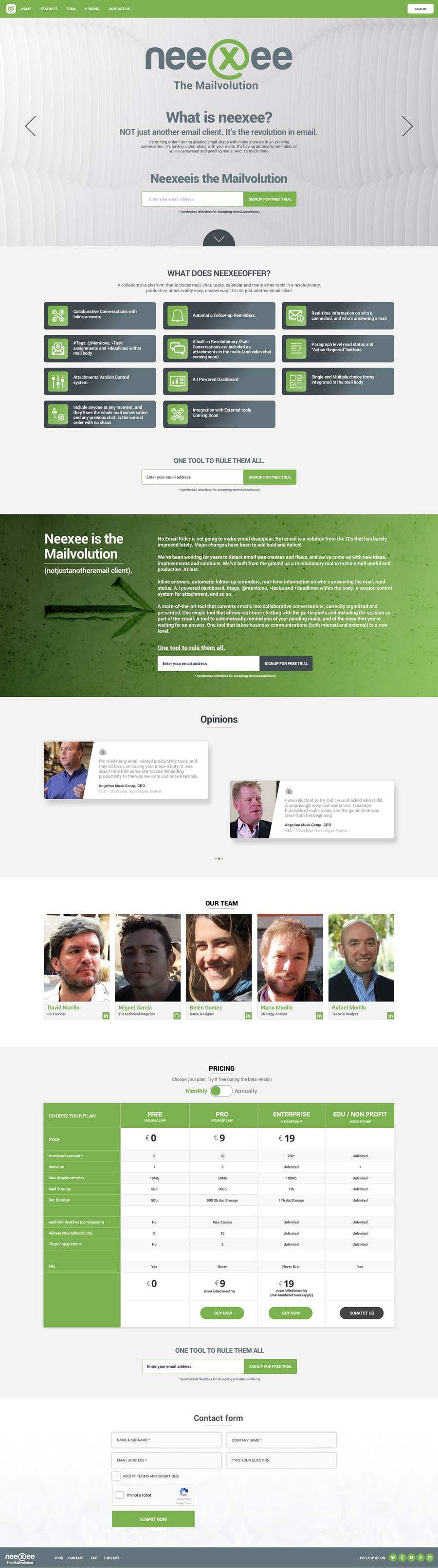 Конкурсная заявка №30 для Home site (single HTML page) for a new coming soon webmail service
