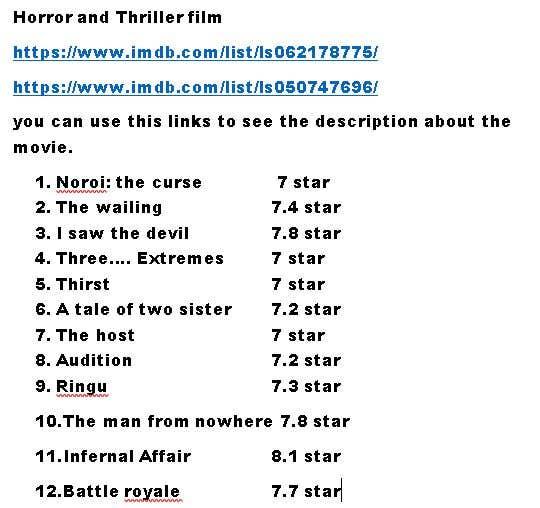 Inscrição nº 6 do Concurso para Find me 4 awesome movies 2.0!