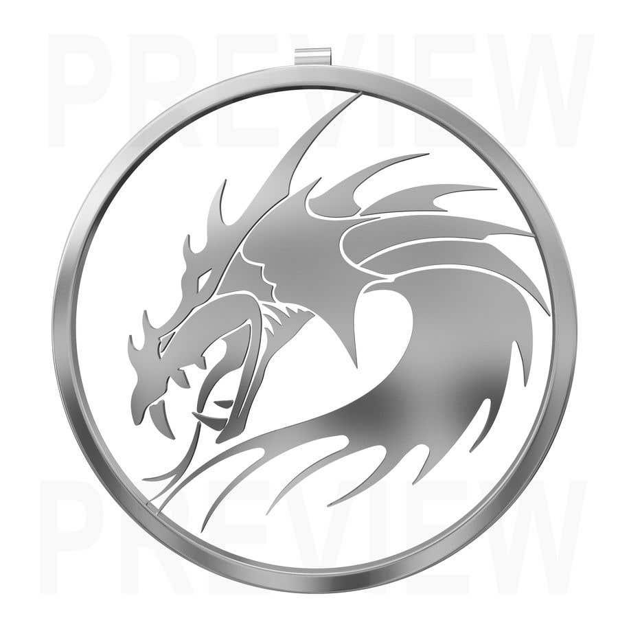Penyertaan Peraduan #7 untuk Stainless Steel Jewelry Designs - Dragon Oil Diffuser Locket