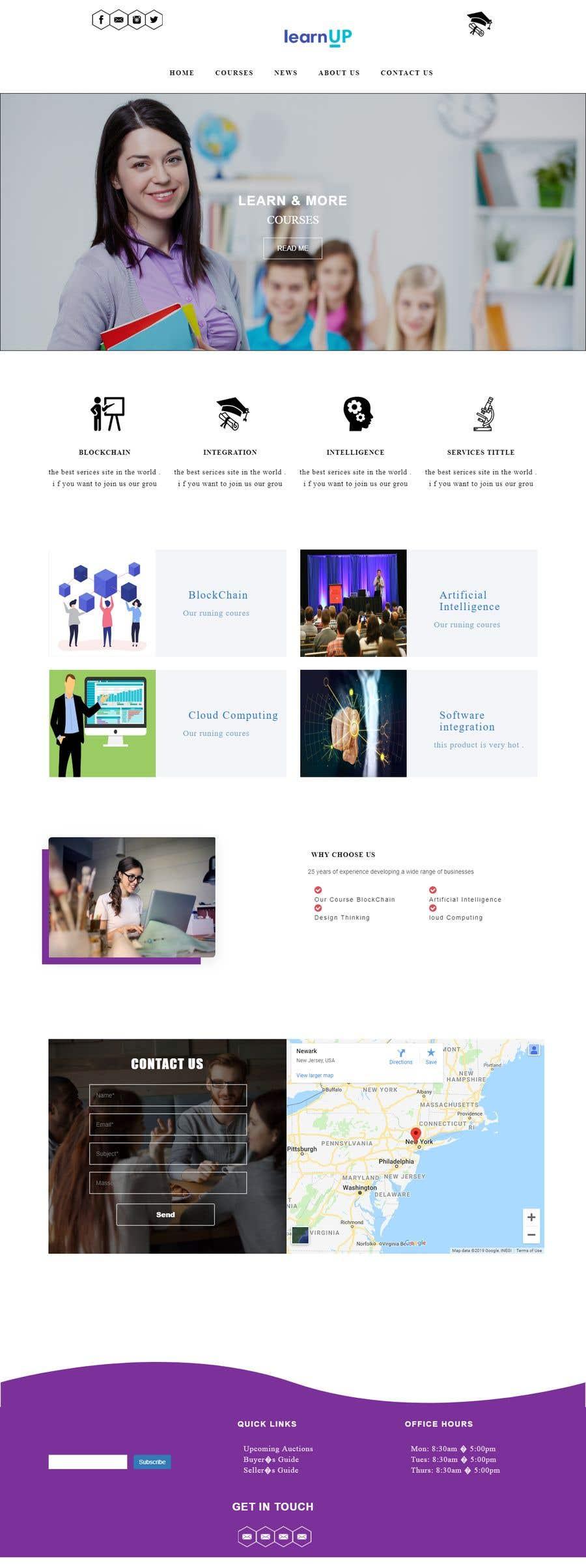 Penyertaan Peraduan #17 untuk Educational organization needs a website design